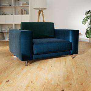 Sessel Nachtblau - Eleganter Sessel: Hochwertige Qualität, einzigartiges Design - 128 x 75 x 98 cm, Individuell konfigurierbar