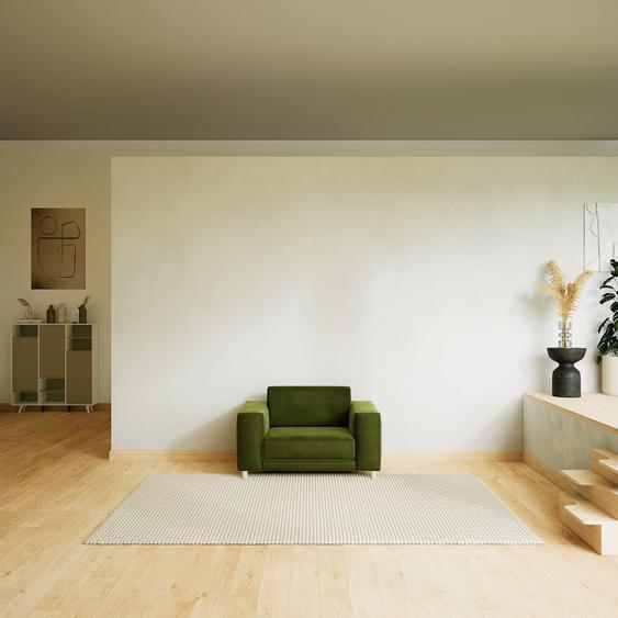 Sessel Samt Olivgrün - Eleganter Sessel: Hochwertige Qualität, einzigartiges Design - 128 x 75 x 98 cm, Individuell konfigurierbar