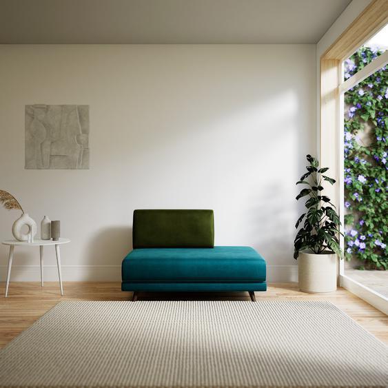 Sessel Samt Ozeangrün - Eleganter Sessel: Hochwertige Qualität, einzigartiges Design - 120 x 75 x 98 cm, Individuell konfigurierbar