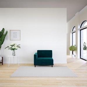 Sessel Samt Petrolblau - Eleganter Sessel: Hochwertige Qualität, einzigartiges Design - 92 x 75 x 98 cm, Individuell konfigurierbar