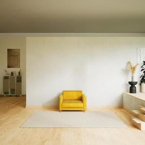 Sessel Samt Rapsgelb - Eleganter Sessel: Hochwertige Qualität, einzigartiges Design - 105 x 75 x 98 cm, Individuell konfigurierbar