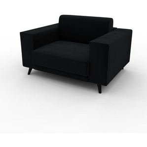 Sessel Samt Schwarz - Eleganter Sessel: Hochwertige Qualität, einzigartiges Design - 128 x 75 x 98 cm, Individuell konfigurierbar