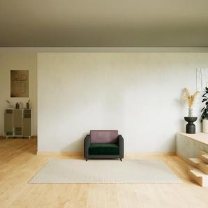 Sessel Samt Tannengrün - Eleganter Sessel: Hochwertige Qualität, einzigartiges Design - 105 x 75 x 98 cm, Individuell konfigurierbar