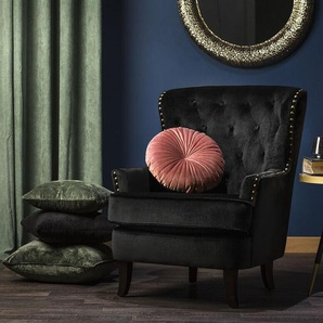 Sessel Samtstoff schwarz VIBORG II