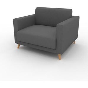 Sessel Steingrau - Eleganter Sessel: Hochwertige Qualität, einzigartiges Design - 105 x 75 x 98 cm, Individuell konfigurierbar