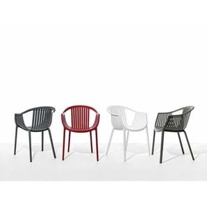 Sessel Tatami Pedrali weiß, Designer Pocci & Dondoli, 78x58x61.5 cm