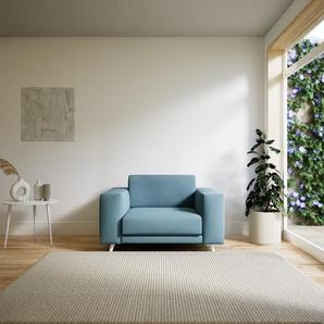 Sessel Taubenblau - Eleganter Sessel: Hochwertige Qualität, einzigartiges Design - 128 x 75 x 98 cm, Individuell konfigurierbar