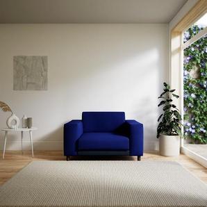 Sessel Tintenblau - Eleganter Sessel: Hochwertige Qualität, einzigartiges Design - 128 x 75 x 98 cm, Individuell konfigurierbar