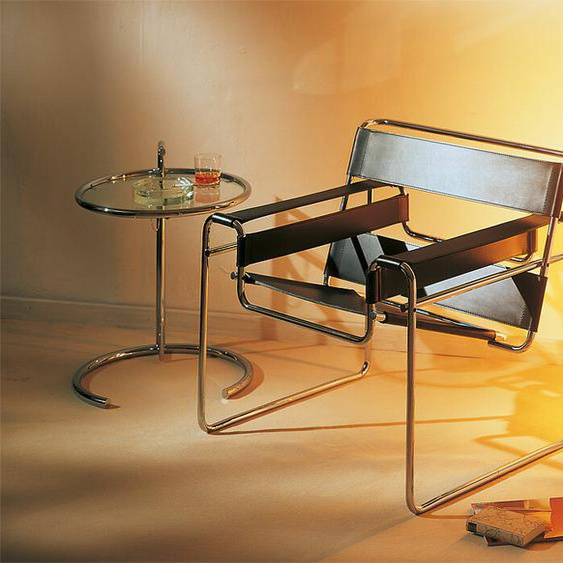 Sessel Wassily Knoll International schwarz, Designer Marcel Breuer, 74x79x70 cm