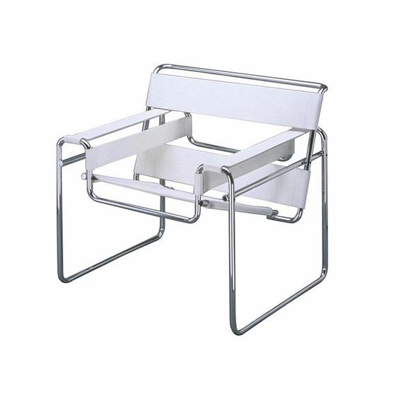 Sessel Wassily Knoll International weiß, Designer Marcel Breuer, 74x79x70 cm