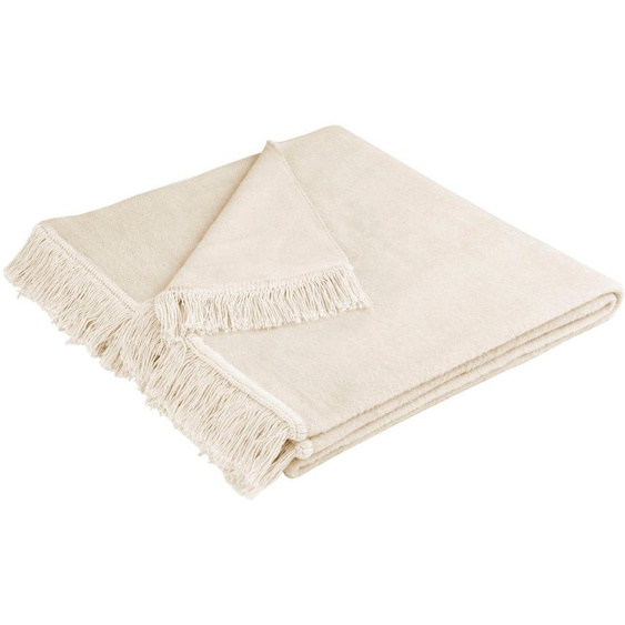 Sesselschoner »Cotton Cover«, 100x200 cm (BxL), biederlack, beige, Material Cotton, unifarben
