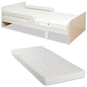 Set Ausziehbett ZELLY + Lattenrost + Matratze - ausziehbar 90x140-90x200cm