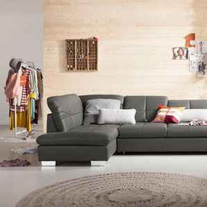 set one by Musterring Ecksofa »SO1200«, mane links oder rechts bestellbar, wahlweise mit Bettfunktion