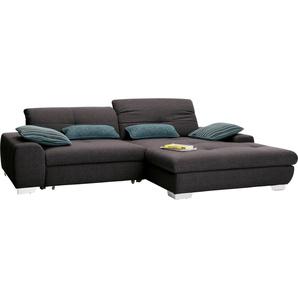 set one by Musterring Ecksofa »SO1200«, Recamiere links oder rechts bestellbar, wahlweise mit Bettfunktion