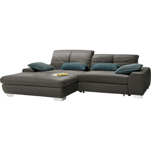 set one by Musterring Ecksofa »SO1200«, Recamiere links oder rechts bestellbar, wahlweise mit Bettfunktion