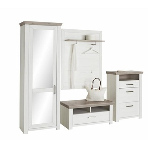 set one by Musterring Garderoben-Set (4-tlg.) »york« Pino Aurelio, im Landhaus Stil