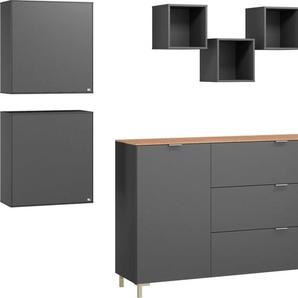 set one by Musterring Wohnzimmer-Set »Chicago«, (Set, 4-St), mit drei Einzelregalen