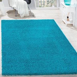 Shaggy-Teppich Deven in Blau