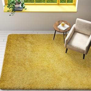 Shaggy-Teppich Salma in Gelb