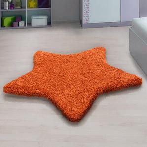 Shaggy-Teppich Seabolt in Orange