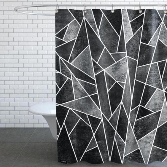 Shattered Black-Duschvorhang