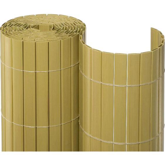 Sichtschutzmatte PVC 90 cm x 1000 cm Bambus