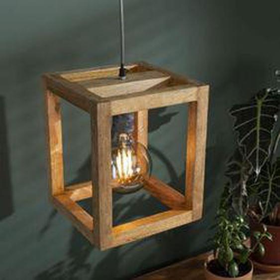 Siddeburen Pendelleuchte Holz dunkel, 1-flammig - Vintage/Industrial/Boho Style - Innenbereich - versandfertig innerhalb von 2-3 Wochen