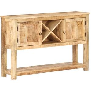 Sideboard 120x30x76 cm Raues Mangoholz
