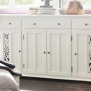 Premium collection by Home affaire Sideboard »Arabeske«, beige, 3 Schubladen, mit Schubkästen, FSC®-zertifiziert