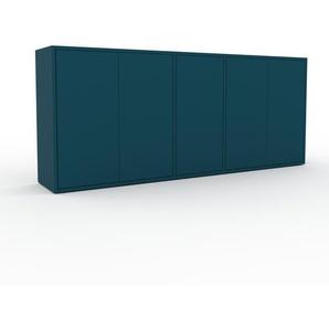 Sideboard Blau - Designer-Sideboard: Türen in Blau - Hochwertige Materialien - 190 x 80 x 35 cm, Individuell konfigurierbar