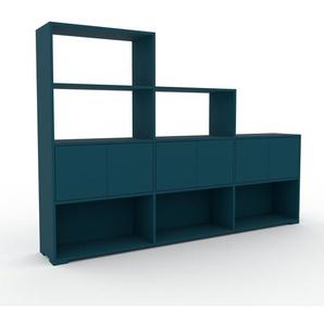 Sideboard Blau - Designer-Sideboard: Türen in Blau - Hochwertige Materialien - 226 x 158 x 35 cm, Individuell konfigurierbar