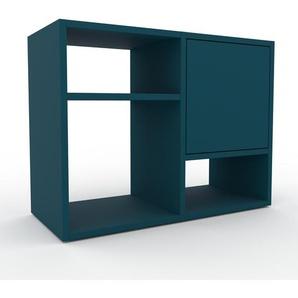 Sideboard Blau - Designer-Sideboard: Türen in Blau - Hochwertige Materialien - 79 x 61 x 35 cm, Individuell konfigurierbar