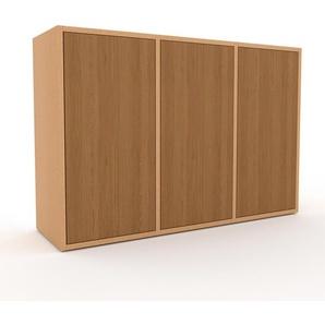Sideboard Buche - Designer-Sideboard: Türen in Eiche - Hochwertige Materialien - 118 x 80 x 35 cm, Individuell konfigurierbar