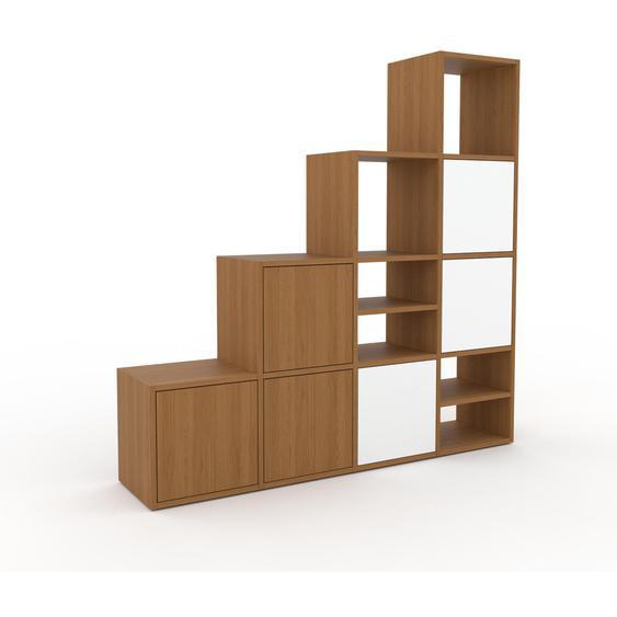 Sideboard Eiche - Designer-Sideboard: Türen in Eiche - Hochwertige Materialien - 156 x 157 x 35 cm, Individuell konfigurierbar