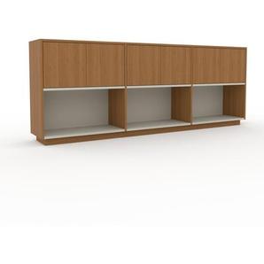 Sideboard Eiche - Designer-Sideboard: Türen in Eiche - Hochwertige Materialien - 226 x 85 x 35 cm, Individuell konfigurierbar