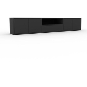 Sideboard Anthrazit - Sideboard: Schubladen in Anthrazit & Türen in Anthrazit - Hochwertige Materialien - 226 x 41 x 35 cm, konfigurierbar