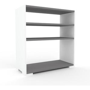 Sideboard Weiß - Designer-Sideboard: Hochwertige Qualität, einzigartiges Design - 77 x 81 x 35 cm, Individuell konfigurierbar