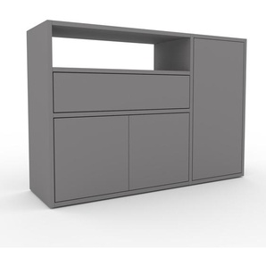 Sideboard Grau - Sideboard: Schubladen in Grau & Türen in Grau - Hochwertige Materialien - 116 x 80 x 35 cm, konfigurierbar