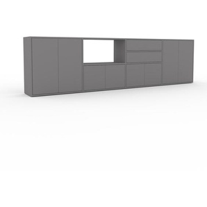 Sideboard Grau - Sideboard: Schubladen in Grau & Türen in Grau - Hochwertige Materialien - 301 x 80 x 35 cm, konfigurierbar