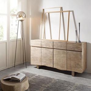 Wohnlandschaft Clovis XXL Weiss Schwarz mit Hocker Ottomane Links, Design Wohnlandschaften, Couch Loft, Modulsofa, modular