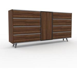 Sideboard Nussbaum - Sideboard: Schubladen in Nussbaum & Türen in Nussbaum - Hochwertige Materialien - 190 x 91 x 35 cm, konfigurierbar