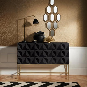 Sideboard , schwarz, Grifflos, »Rovuma«, , , Leonique