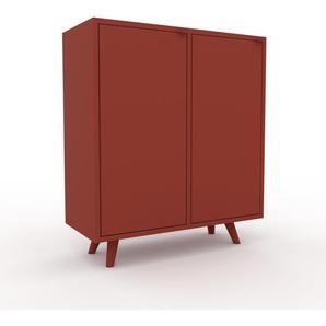 Sideboard Rot - Designer-Sideboard: Türen in Rot - Hochwertige Materialien - 79 x 91 x 35 cm, Individuell konfigurierbar