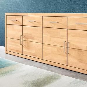 Sideboard, beige, mit Schubkästen, FSC®-zertifiziert,