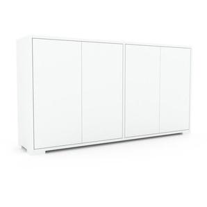 Sideboard Weiß - Designer-Sideboard: Türen in Weiß - Hochwertige Materialien - 152 x 81 x 35 cm, Individuell konfigurierbar