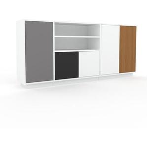Sideboard Weiß - Designer-Sideboard: Türen in Weiß - Hochwertige Materialien - 190 x 85 x 35 cm, Individuell konfigurierbar