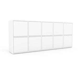 Sideboard Weiß - Designer-Sideboard: Türen in Weiß - Hochwertige Materialien - 195 x 80 x 35 cm, Individuell konfigurierbar