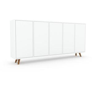 Sideboard Weiß - Designer-Sideboard: Türen in Weiß - Hochwertige Materialien - 195 x 91 x 35 cm, Individuell konfigurierbar