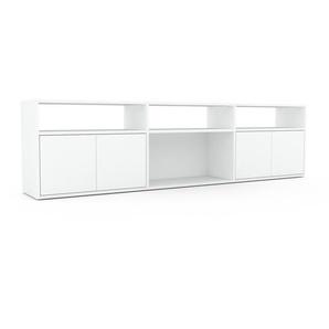 Sideboard Weiß - Designer-Sideboard: Türen in Weiß - Hochwertige Materialien - 226 x 61 x 35 cm, Individuell konfigurierbar