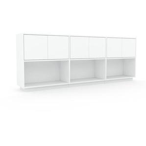 Sideboard Weiß - Designer-Sideboard: Türen in Weiß - Hochwertige Materialien - 226 x 85 x 35 cm, Individuell konfigurierbar